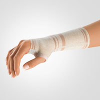 Wrist Support with Hemmed Thumb Opening